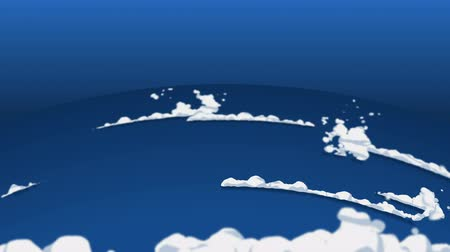 âmbar : Smoke animation from fast movement. Animation element for game. Cartoon steam clouds. Loop black animation. Vídeos