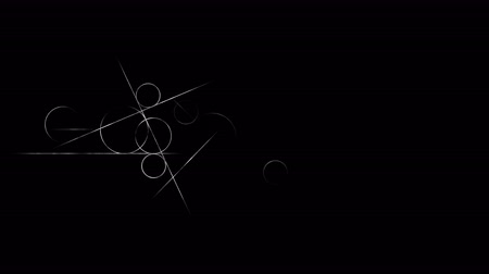 aritmetický : Loop transition animation with scientific geometric patterns in mathematics. Mathematics and education background. Circle and line.