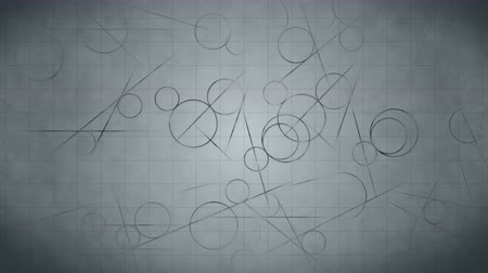 vzorec : Loop transition animation with scientific geometric patterns in mathematics. Mathematics and education background. Circle and line.