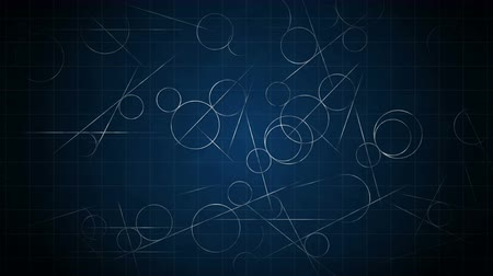 aritmética : Loop transition animation with scientific geometric patterns in mathematics. Mathematics and education background. Circle and line.