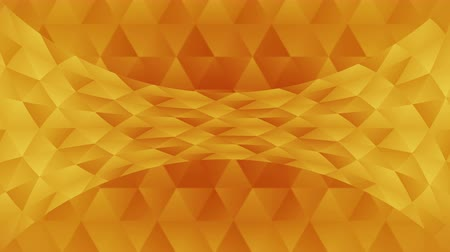 triângulo : Triangle pattern of geometric shapes. Abstract polygonal loop animation. Colorful gradient background.