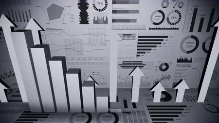 négyszögletes : Solid geometric objects for graphs. Rectangular bar chart Infographics loop animation. Charts and graphs. Business success concept. Data visualization elements. Stock mozgókép