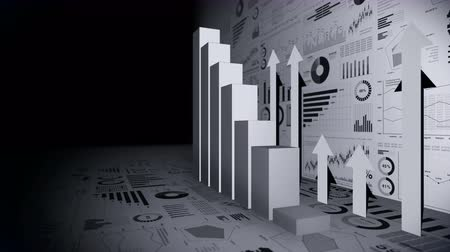 obdélníkový : Solid geometric objects for graphs. Rectangular bar chart Infographics loop animation. Charts and graphs. Business success concept. Data visualization elements. Dostupné videozáznamy