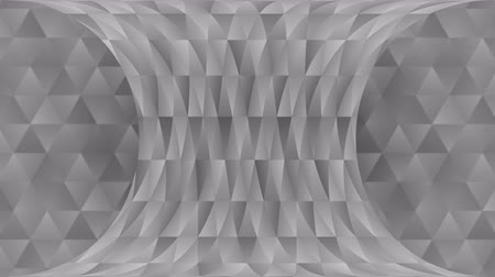 halftone : Triangle pattern of geometric shapes. Abstract polygonal loop animation. Monochrome gradient background. Stock Footage