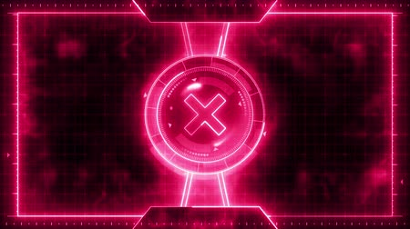 finder : Futuristic sports game loop animation. Versus fight background. Radar neon digital display. X target mark. Game control interface element. Battle fight sports competition.