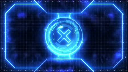 радар : Futuristic sports game loop animation. Versus fight background. Radar neon digital display. X target mark. Game control interface element. Battle fight sports competition.