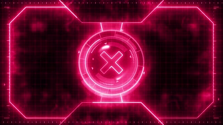 comparar : Futuristic sports game loop animation. Versus fight background. Radar neon digital display. X target mark. Game control interface element. Battle fight sports competition.