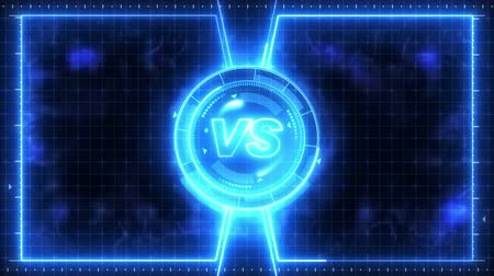comparar : Futuristic sports game loop animation. Versus fight background. Radar neon digital display. Vs. Game control interface element. Battle fight sports competition.