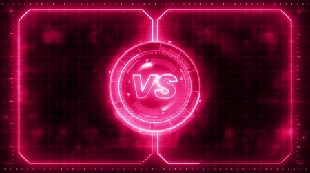 viewfinder : Futuristic sports game loop animation. Versus fight background. Radar neon digital display. X target mark. Game control interface element. Battle fight sports competition.