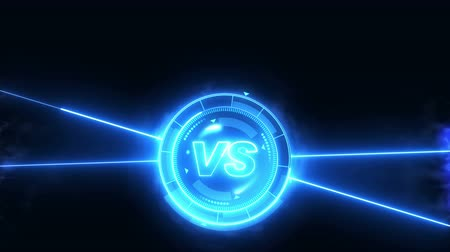 karşılaştırma : Futuristic sports game loop animation. Versus fight background. Radar neon digital display. X target mark. Game control interface element. Battle fight sports competition.