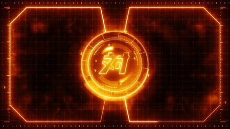 finder : Futuristic sports game loop animation. Versus fight fight background. Radar neon display. Chinese character versus. Japanese letter element. Game control. Stock Footage