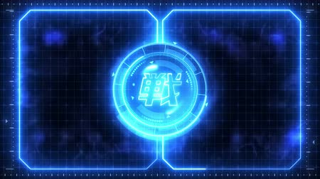 finder : Futuristic sports game loop animation. Versus fight fight background. Radar neon display. Chinese character fight. Japanese letter element. Game control.
