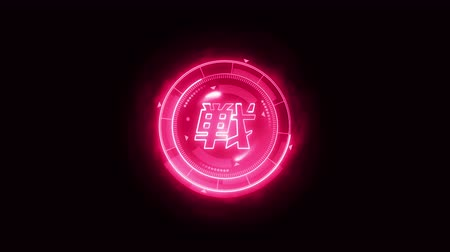 viewfinder : Futuristic sports game loop animation. Versus fight fight background. Radar neon display. Chinese character fight. Japanese letter element. Game control.