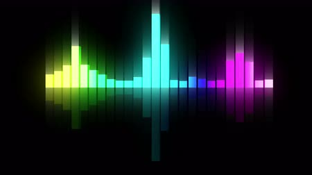 fluorescence : Audio colorful wave animation. Sound wave from equalizer. Pulse music player. Futuristic digital sound wave concept. Loop background.