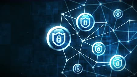 треугольный : Shield security with safety lock icon. Internet connection. Firewall,Password,Protection. Privacy sign floating. Polygonal Space with Connecting Dots and Lines. Wireframe polygon and icon.