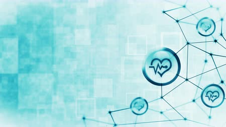 ecg : Heart with a heart beat icons floating. Electro Cardiogram. ECG. Communication connection. Heart with Pulse. Heart rate. Polygonal Space with Connecting Dots and Lines. Wireframe polygon and icon.