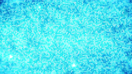 hexagon glow : Blue Electric Lightning honeycomb background. Glowing electric hexagon with shining light. Business technology loop animation. Stock Footage