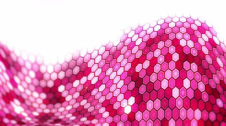 hexagon glow : Red Electric Lightning Honeycomb background. Glowing electric hexagon with shining light. Business technology loop animation.