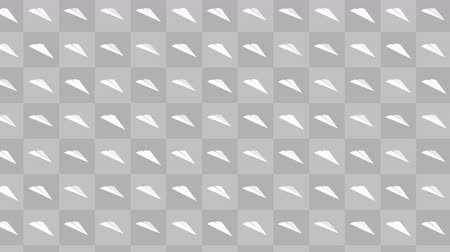 paper airplane : Handmade paper plane collection. Loop animation of flowing white paper plane on colorful background. Business connection concept. Origami Airplane Flying.