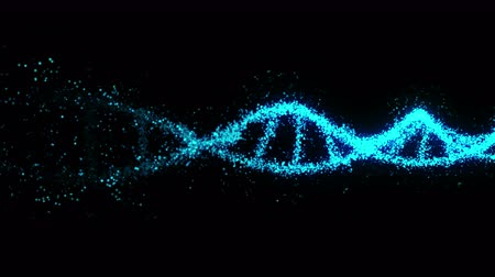 DNA molecule helix as a symbol for genetics code. Medicine and technology concept. Science biotechnology. Loop animation.
