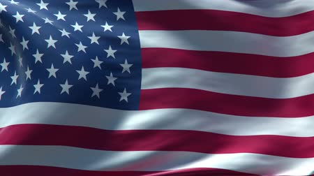 bandeira : full screen Waving USA flag, perfect seamless loop, rendered with very High texture resolution