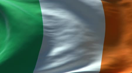 İrlanda : full screen Waving Ireland flag, perfect seamless loop, rendered with very High texture resolution