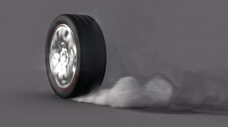 pneus : extreme wheel  tire Burnout on asphalt, lots of smoke & heat :)   Alpha Channel