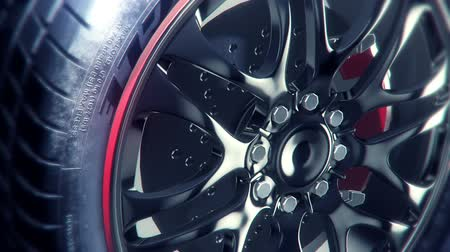 tekerlekler : 360° black wheel rim rotation, very elegant and stylish, seamless loop,