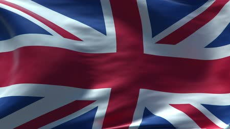 bandeira : full screen Waving Britain flag, perfect seamless loop, rendered with very High texture resolution