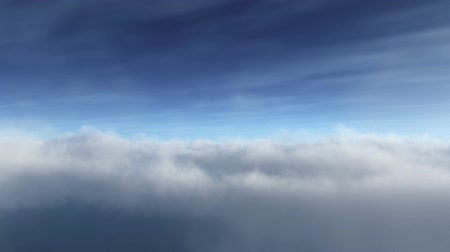 полет : Flying OnThrough white Clouds at daytime Seamless Loop