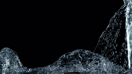 поток : Water puring and splashing   alpha channel (for compositing)