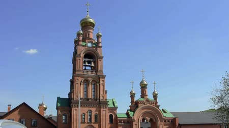 resurrection : Orthodox church with the golden domes