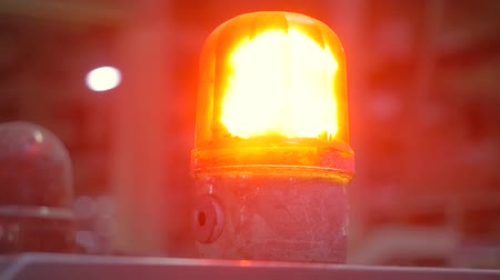 syrena : Factory warning lamp close-up