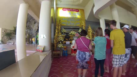 January 30, 2012 Thailand. Excursion to the Church of the Tiger. Travel to Thailand. Stock Footage