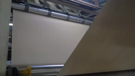 Paper making machine. Production Line Stock Footage