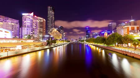 sunset city : 4k timelapse video of Melbourne at night