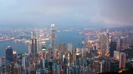 günler : 4k timelapse video of Hong Kong from day to night, zooming in