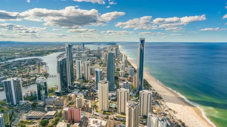 złoto : 4k timelapse video of Gold Coast, Australia