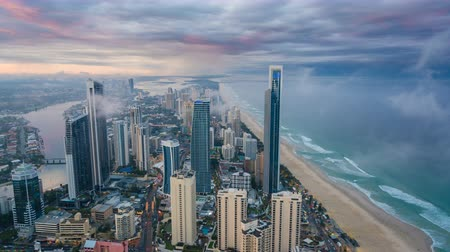 costa : 4k timelapse video of Gold Coast, Australia from day to night
