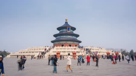 imperial : Beijing, China - Mar 18, 2018: 4k hyperlapse video of Temple of Heaven in Beijing Stock Footage