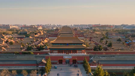 supreme : Beijing, China - Mar 15, 2018: 4k timelapse video of Forbidden City in Beijing from day to night