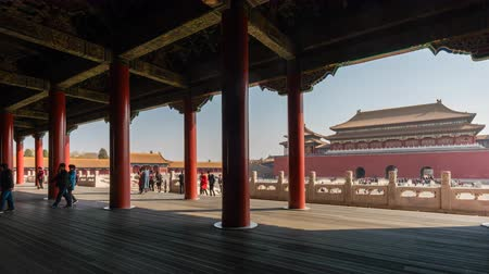 peking : Beijing, China - Mar 16, 2018: 4k timelapse video of Forbidden City in Beijing