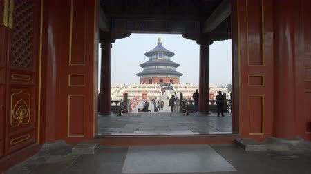 peking : Beijing, China - Mar 18, 2018: 4k video of Temple of Heaven in Beijing Dostupné videozáznamy