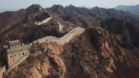 династия : 4k aerial video of Jinshanling Great Wall