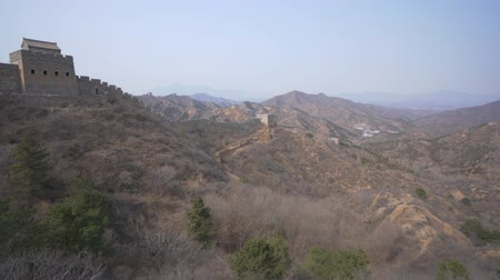 oriente : Panoramica di Jinshanling Great Wall Filmati Stock