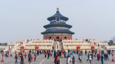 peking : Beijing, China - Mar 18, 2018: Timelapse video of temple of Heaven in Beijing