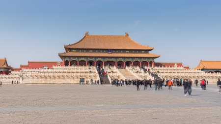 supremo : Beijing, China - Mar 16, 2018: 4k hyperlapse video of Forbidden City in Beijing Vídeos