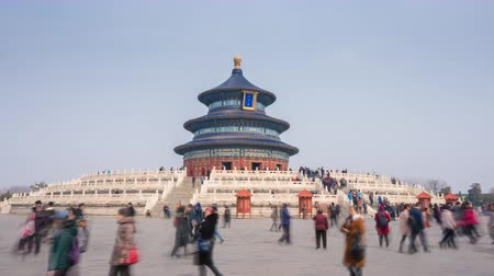 peking : Beijing, China - Mar 18, 2018: 4k hyperlapse video of Temple of Heaven in Beijing Dostupné videozáznamy