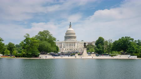 kongres : 4k hyperlapse video of United States Capitol