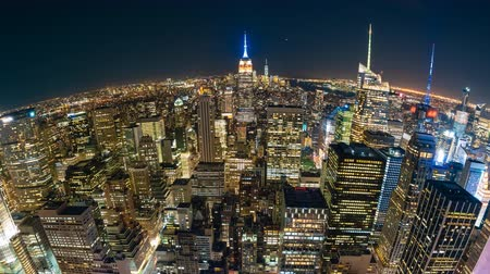 Video timelapse 4K di New York City di notte